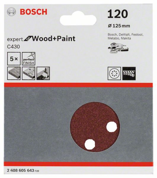 Шлифлист Bosch Expert for Wood and Paint C430 2.608.605.643