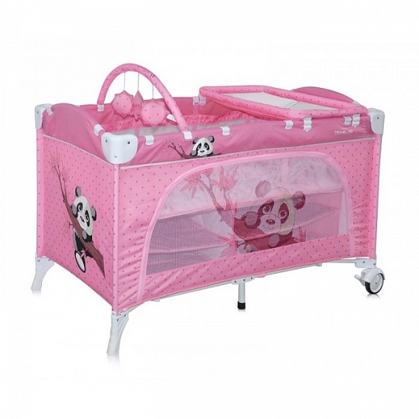 Манеж-кровать LORELLI Travel Kid 2 Pink Panda
