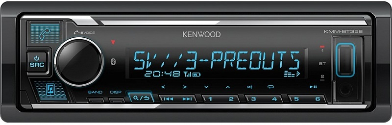 USB-магнитола Kenwood KMM-BT356