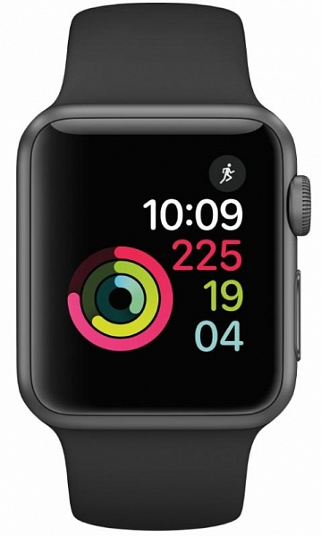 Смарт-часы Apple Watch Series 1 42mm Space Gray with Black Sport Band (MP032GK/A)