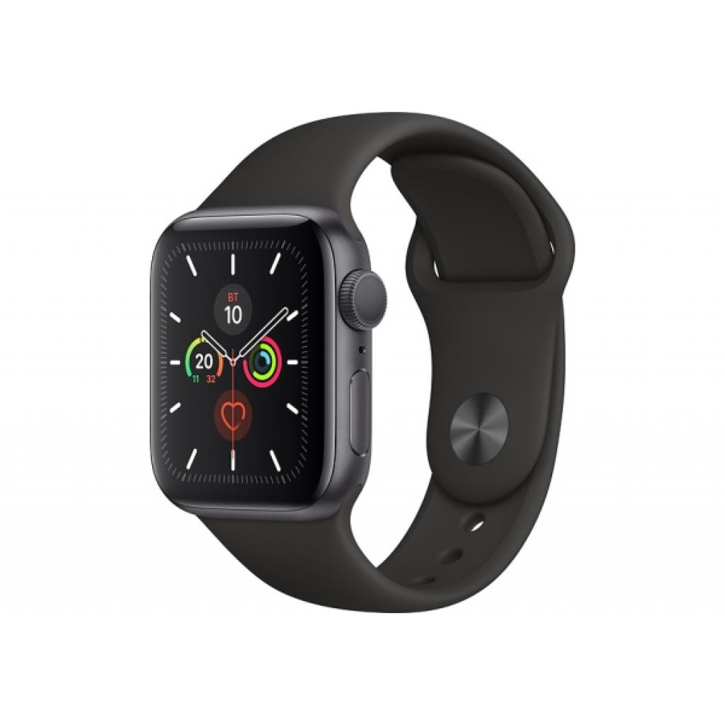 Смарт-часы APPLE Watch Series 5 Space Grey Aluminium Case with Black Sport Band 44mm (MWVF2UL/A)