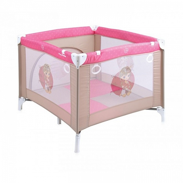 Детский манеж LORELLI PLAY STATION BEIGE&ROSE PRINCESS