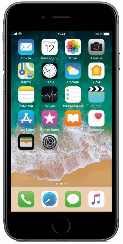 Смартфон APPLE iPhone 6s Refurbished 16GB Space Grey A1688 (FKQJ2RM/A)