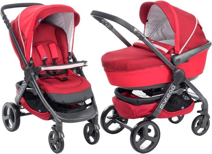 Коляска детская 2 в 1 Chicco DUO StyleGO Red Passion
