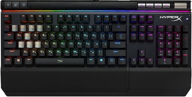 Клавиатура HyperX Alloy Elite RGB CHERRY MX BLUE (HX-KB2BL2-RU/R1)