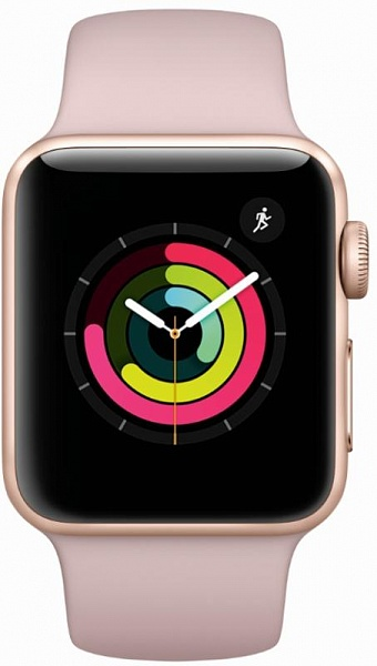 Смарт-часы APPLE Watch APPLE Series 3 Gold Aluminium Case with Pink Sand Sport 38mm (MQKW2FS/A)