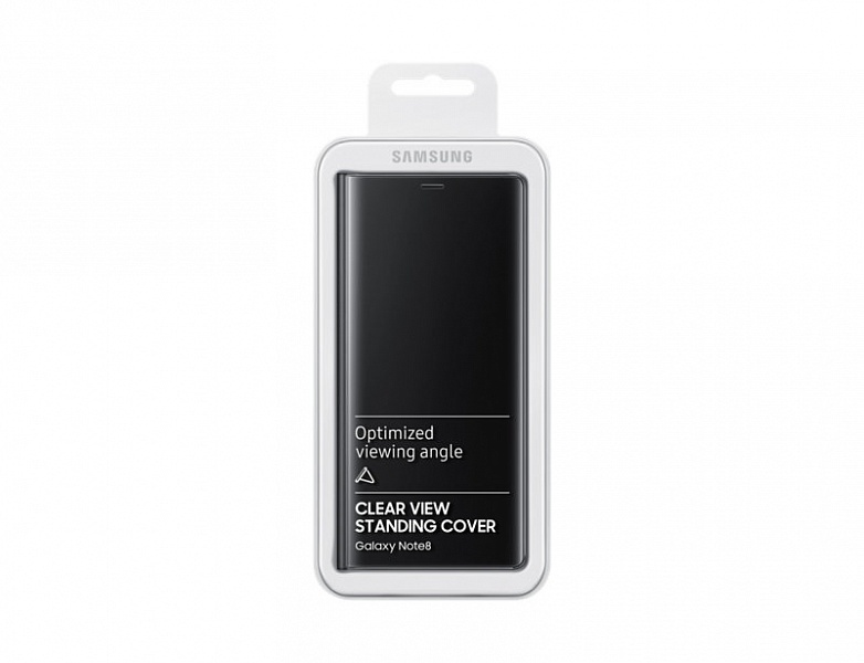Чехол SAMSUNG Clear View Standing Cover Galaxy Note8 (EF-ZN950CBEGRU) черный