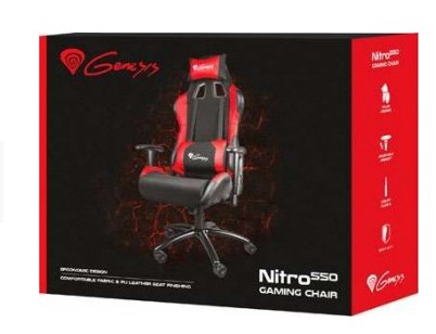 Кресло игровое Genesis NITRO 550 NFG-0784 Gaming Black-Red